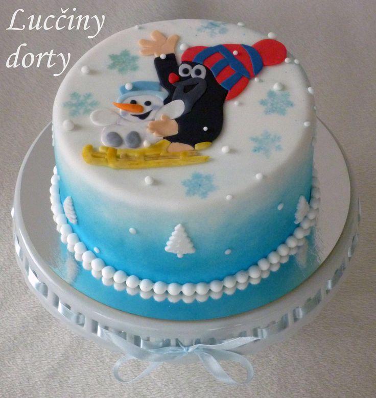 """Winter cake with """"Krteček"""""""