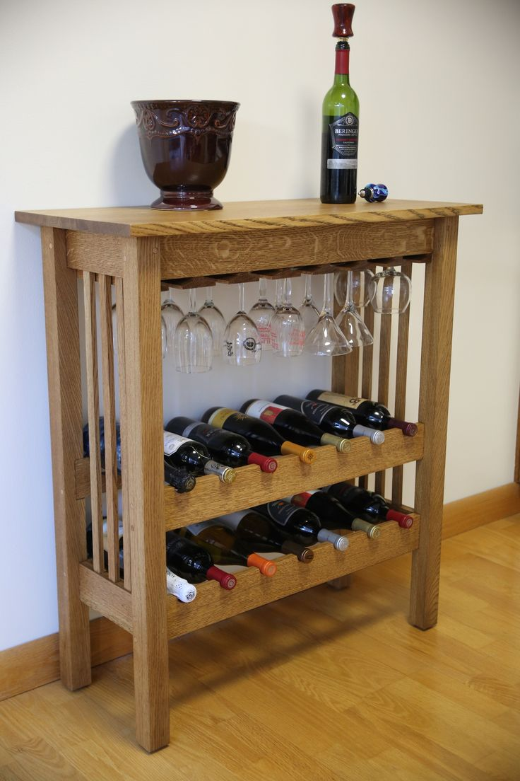 how to build a wine rack in a cabinet