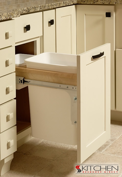 beautiful Waste Baskets For Kitchen Cabinets #3: Iu0027ve dreamed about pull out waste baskets before.... When I · Contemporary Kitchen  CabinetsKitchen ...