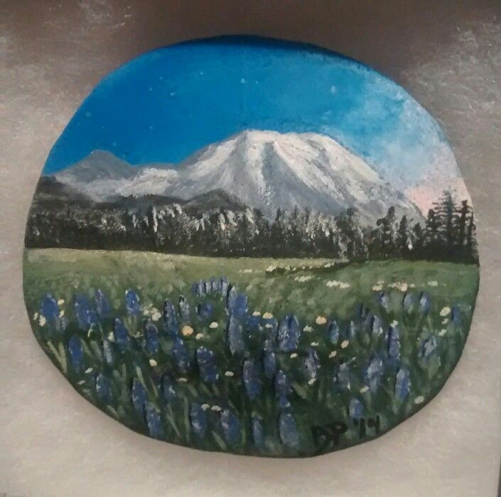 Mt. Rainier, WA (Handpainted by Brenda Preston)