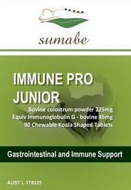 Sumabe Immune Pro Junior, bovine colostrum 225mg, 90 Tablets