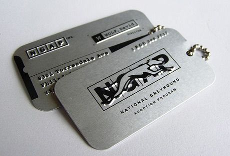 Ultimate creative business cards collection | StockLogos.com Dog tag theme.