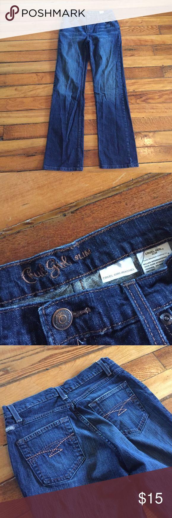 "Cruel Girl jeans, Rachel Slim, size 7 Regular These are the Rachel jeans by Cruel Girl, Slim fit. Size 7 Regular. Inseam is 31"". Cruel Girl Jeans"
