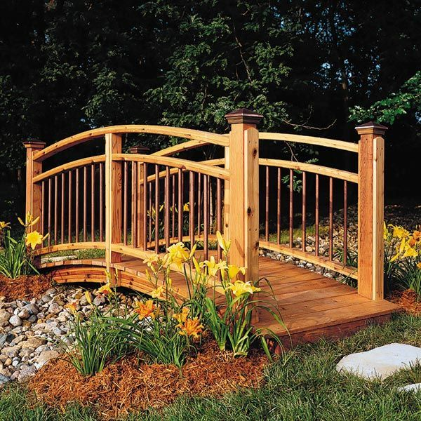 Backyard Bridges arched garden footbridge | garden decorating ideas | pinterest