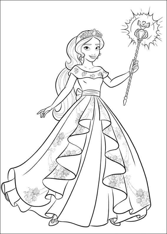 Elena Of Avalor Coloring Pages Princess Coloring Pages Cartoon