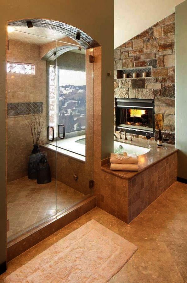 Luxury Bathrooms Designs Uk Elegant Bathrooms By Pg Bones Bathroom Fireplace Rustic Master Bathroom Bathroom Design Luxury