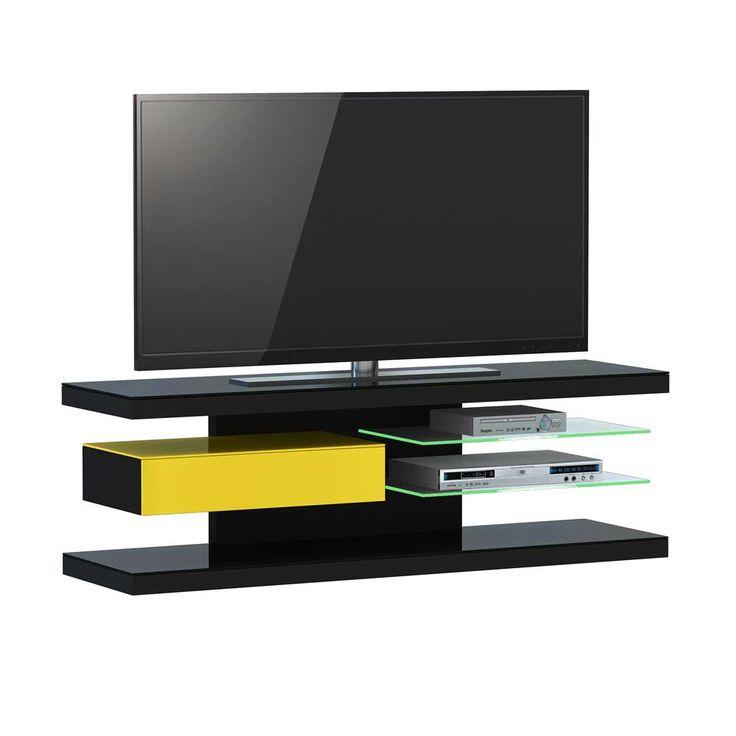 TV Tisch In Schwarz Gelb Mit Beleuchtung Jetzt Bestellen Unter Moebelladendirektde Wohnzimmer Tv Hifi Moebel Lowboards Uid3074db2e B4db 5e09