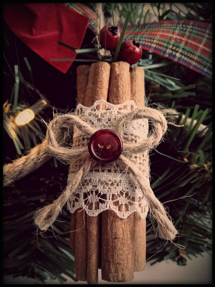 Cinnamon Stick Christmas Ornaments in 2020 Christmas