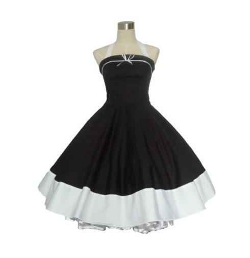 Rockabilly VINTAGE BLACK Swing Dress
