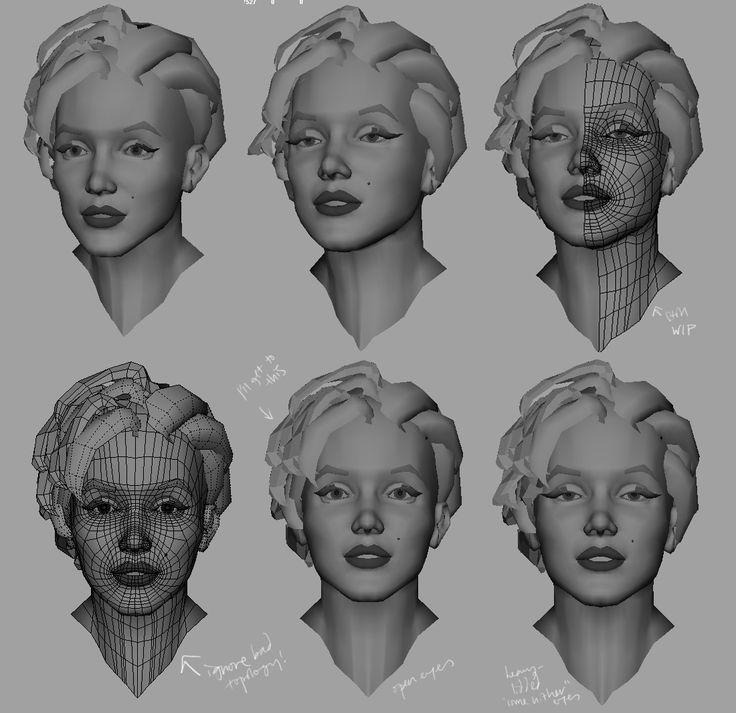 maya how to add hair to head