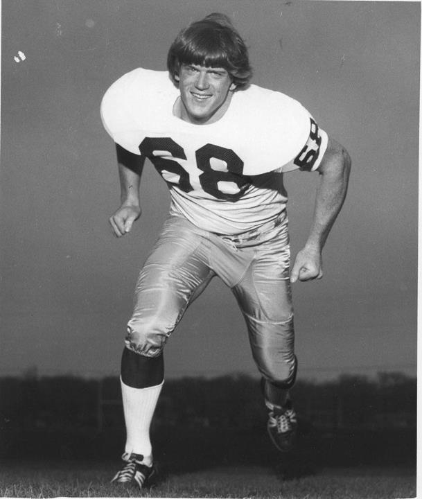 """Dave Casper ('74) who this year will become Notre Dame's 44th player inducted into the College Football Hall of Fame. (Notre Dame Football/Facebook). Like the Irish?  Be sure to check out and """"LIKE"""" my Facebook Page https://www.facebook.com/HereComestheIrish  Please be sure to upload and share any personal pictures of your Notre Dame experience with your fellow Irish fans!"""
