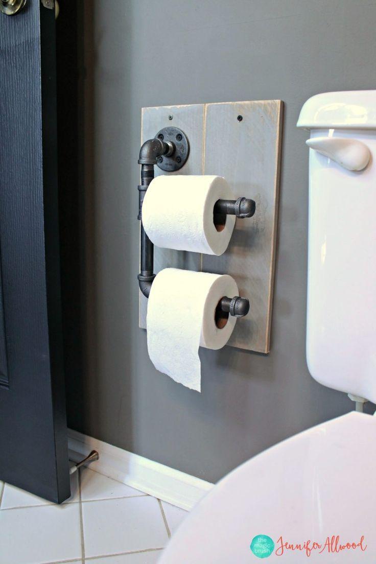 Industrial Toilet Paper Holder for Boys Bathroom | Magic Brush