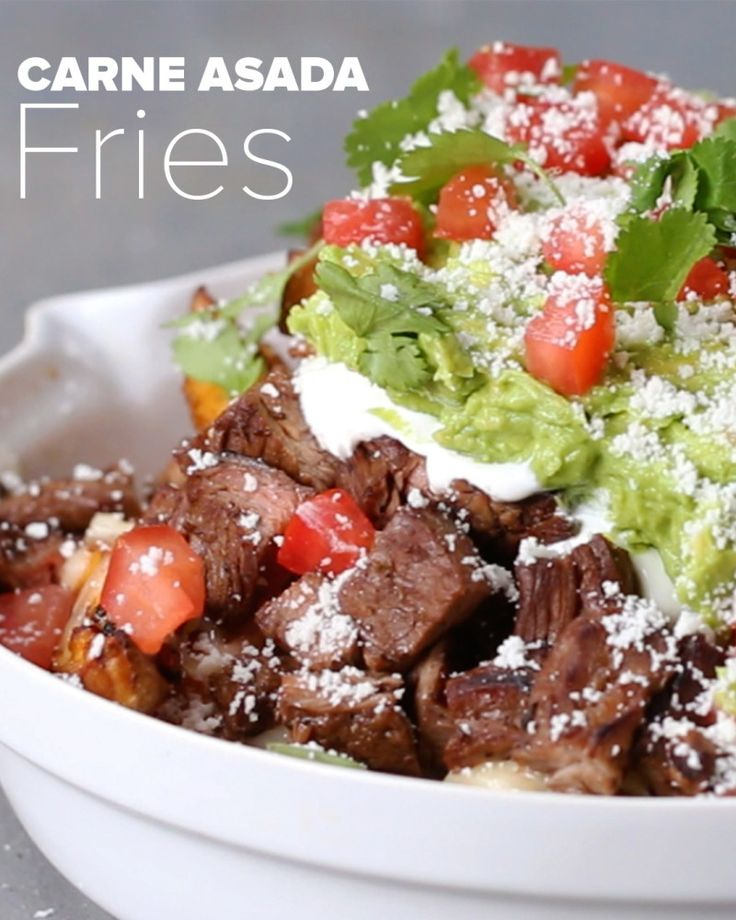 Carne Asada Fries - make whole30 by eliminating cheese and choosing compliant toppings.