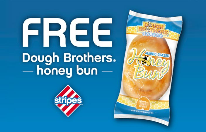 Get to your nearby Stripes convenience store in Texas, Oklahoma, or New Mexico! Get a FREE Jumbo Glazed Honey Bun!!