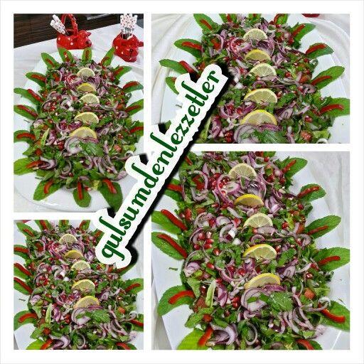 Narli soganli balik salatasi