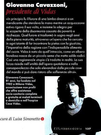 Intervista alla fondatrice #GiovannaCavazzoni su Elle