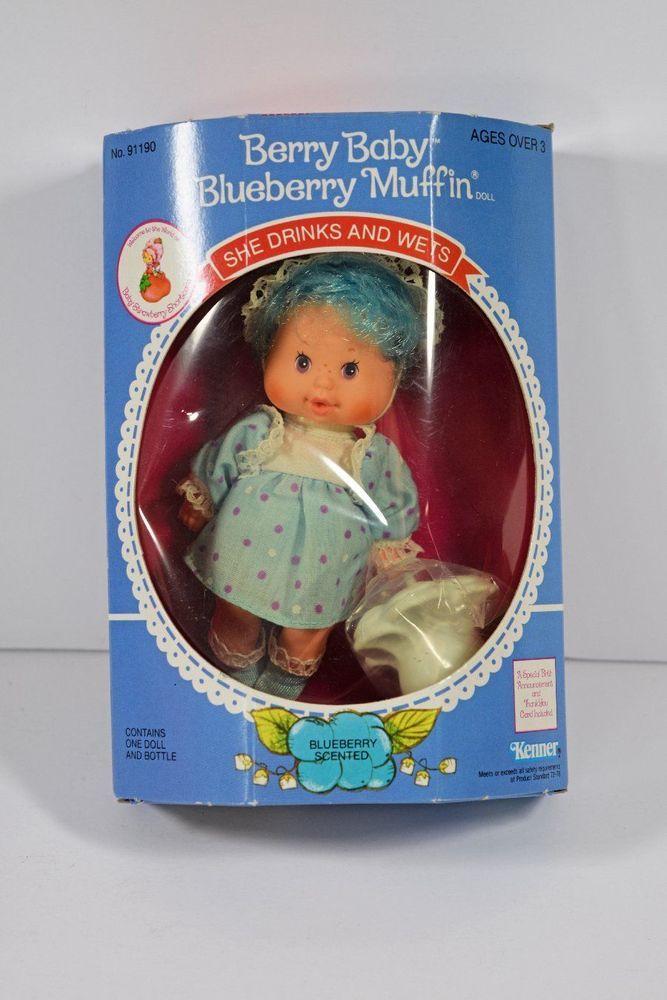 Vintage Kenner Strawberry Shortcake Blueberry Muffin Berry Baby NIB Box Has Wear #Kenner #Dolls