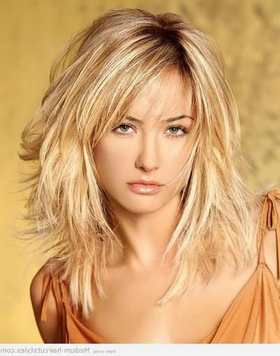 best shoulder length layered haircuts