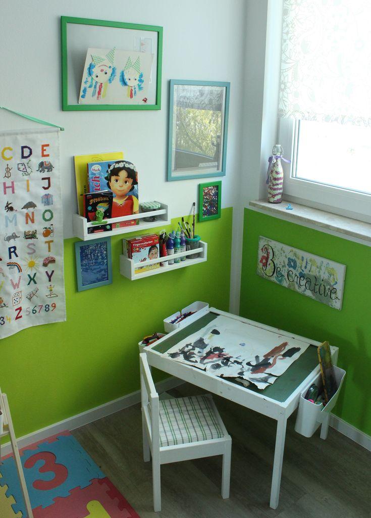 Bastel- & Malecke im Kinderzimmer