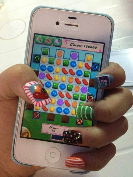 Candy Crush nails. I want them!!