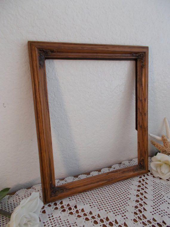 Vintage Carved Wood Picture Frame 10 X 12 Photo Decoration Ornate