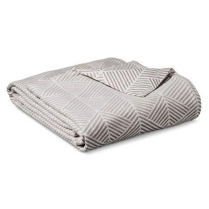 Threshold Ringspun Cotton Fashion Blanket In Grey Or Mint