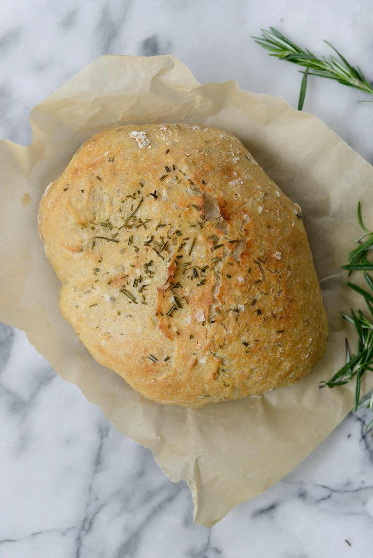 No Knead Whole Wheat Rosemary Bread (made in the Instant Pot) – Delish Knowledge