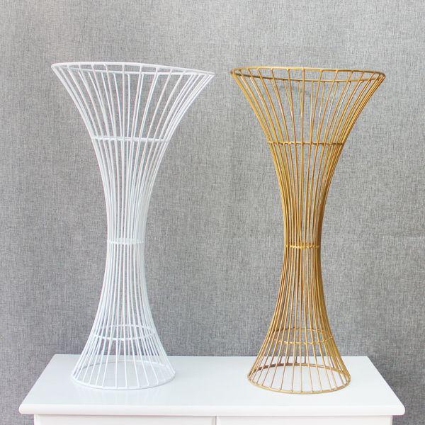 Новый главный стол цветок Свадебная композиция ваза для цветов свадьба реквизита дорога ведет железный полый стойку