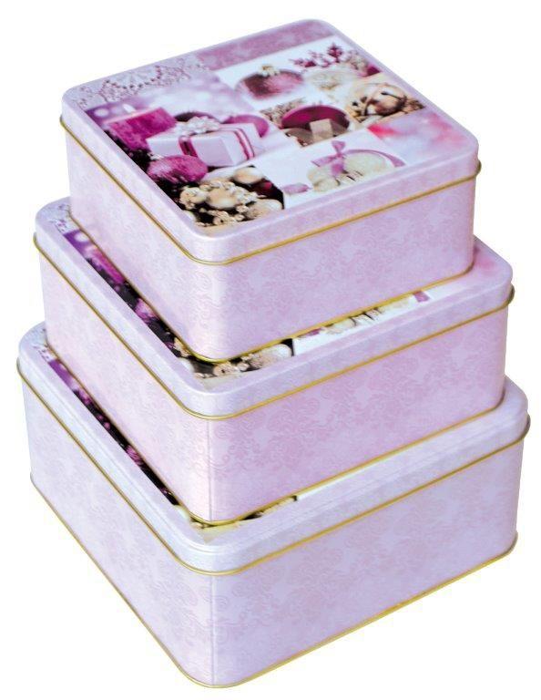 Sada 44 - 3ks Plechové krabice na cukroví -  č.44/217514 SET