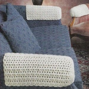 Crocheted Arm Chair Covers Pattern These Are Crochet