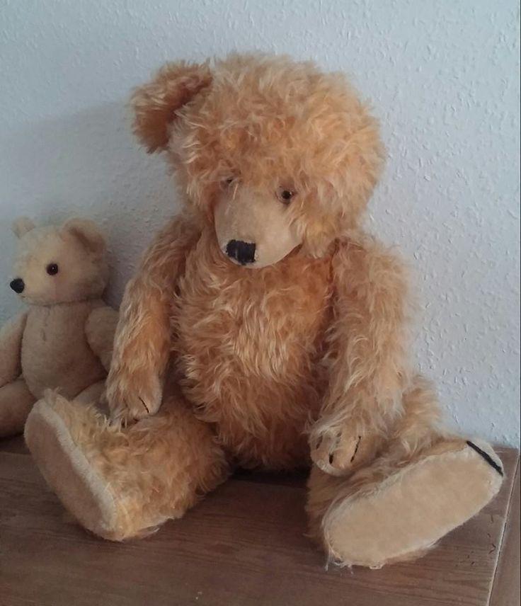 Diemteddybear, found in the trash. ca. 1950, intact growler. #diem #teddybear #markedslopper