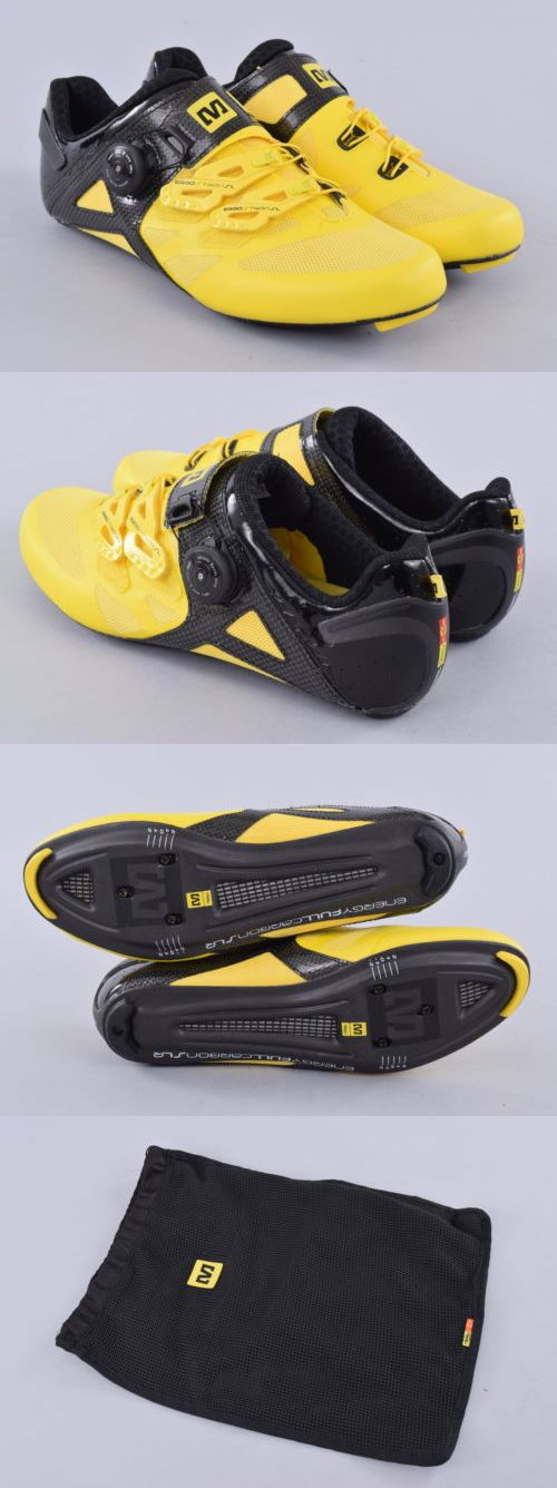 Men 158986: Mavic Cosmic Ultimate Road Cycling Shoes | 9 Us 42 2/3 Eu | Yellow/Black BUY IT NOW ONLY: $138.19