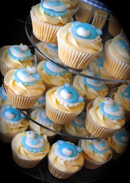 Christening Cupcakes with Ducks & Teddies