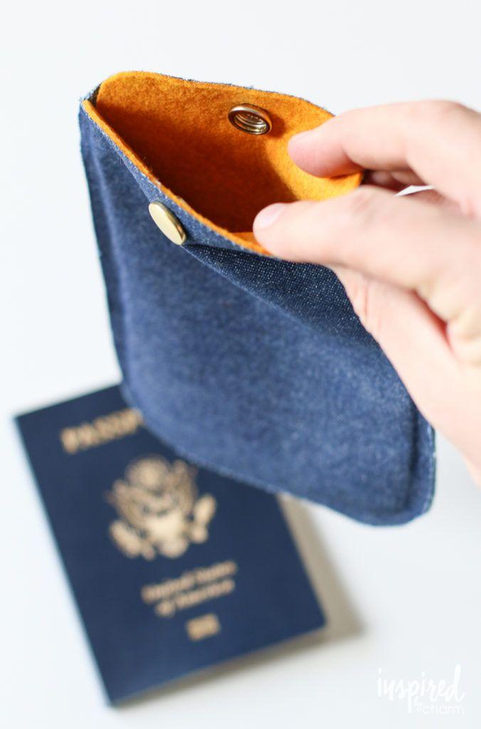 DIY No-Sew Passport Cover