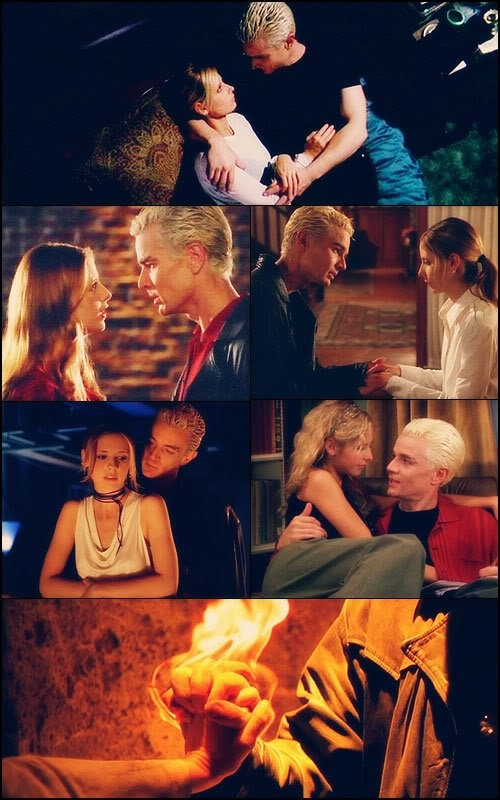 Buffy & Spike.. seriously my latest obsession. I was to young to understand it the first go round.