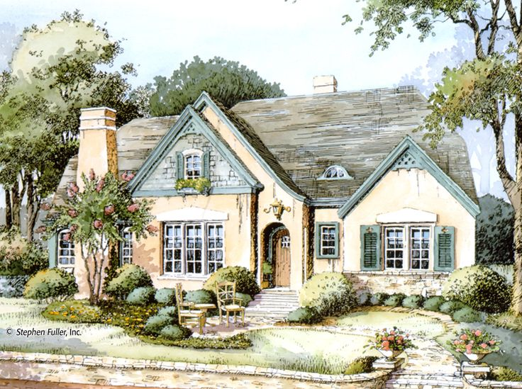 1000 ideas about french cottage style on pinterest for French country tudor house plans