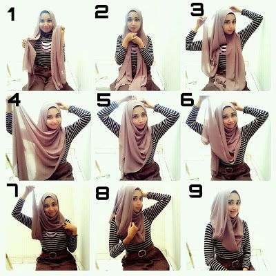 Hijab tutorial pashmina sifon