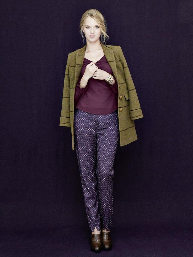 #Print #Hose, #Seiden #Shirt und #Tweed #Mantel by Brigitte von Boch #bevonboch