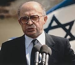 Menachem Begin began his life fleeing with his family to escape the fighting between the German and Russian armies in WWI. A passionate Zionist from an early age, he joined Jabotinsky's youth movement in his teens, rising quickly to important leadership positions. He was imprisoned by Stalin in Siberia, later joining the Polish free army. He formed the Likud Party and in 1977 was elected Prime Minister of Israel. He initiated the peace process with Egypt, signing the Camp David Accords.