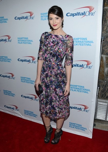 Look of the Day: Graphic Florals  . Mary Elizabeth Winstead merged femininity and rock n' roll sensibilities in a graphic floral dress from Erdem at the 20th Hamptons International Film Festival. #stylestars