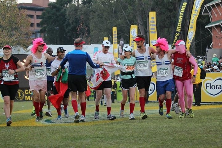 """Will never forget this moment. Arm in arm capturing the spirit of Unogwaja. """"It is not about how fast we go as individuals but how much further we can go and how much more fun we can have and share TOGETHER!"""" shoOops!"""