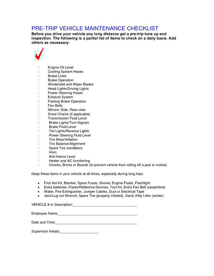 Engine Tune-up Checklist