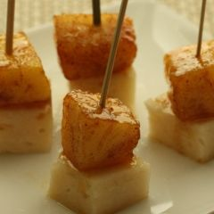 Pineapple Manchego Skewers