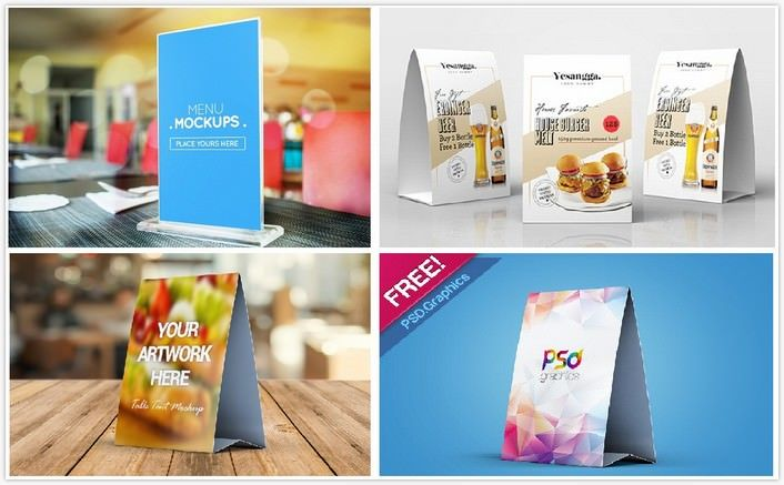 today we will bring best assembling of 29 table tent mockups psd