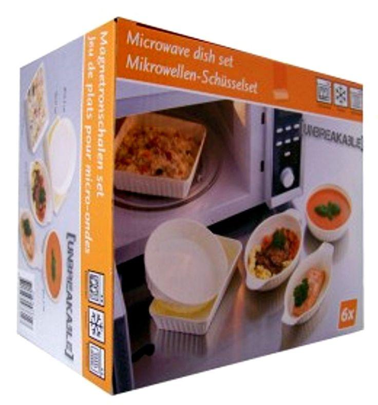 Microwellen-Schüssel-Set  6tlg. Unzerbrechlich !  Die praktischen Küchenhelfer, aus dem Gefrierfach in den Microwellenofen !