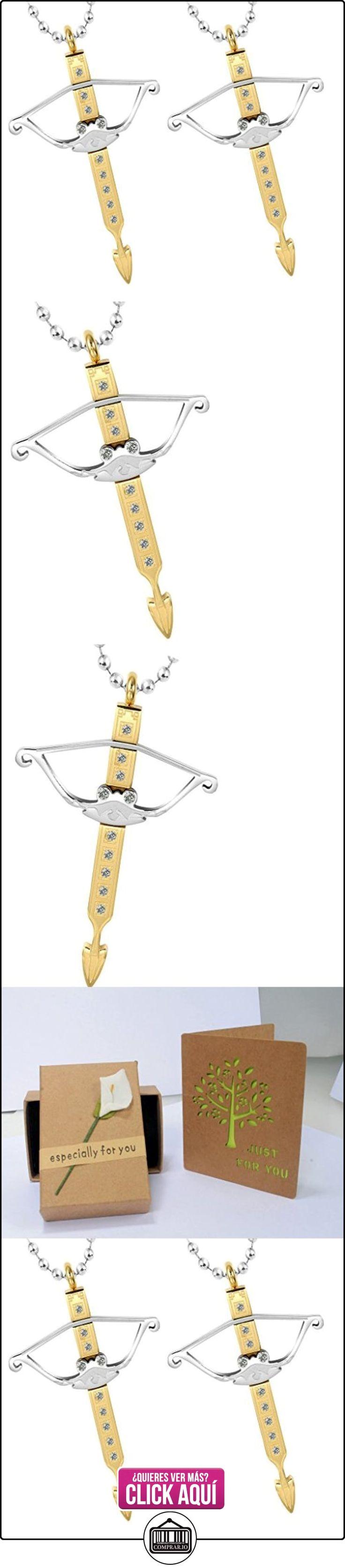 Daesar Conjuntos de Joyería Colgante Collar Acero Hombre, Arco y Flecha Colgante Circonita  ✿ Joyas para niños - Regalos ✿ ▬► Ver oferta: https://comprar.io/goto/B01CP6MUB8