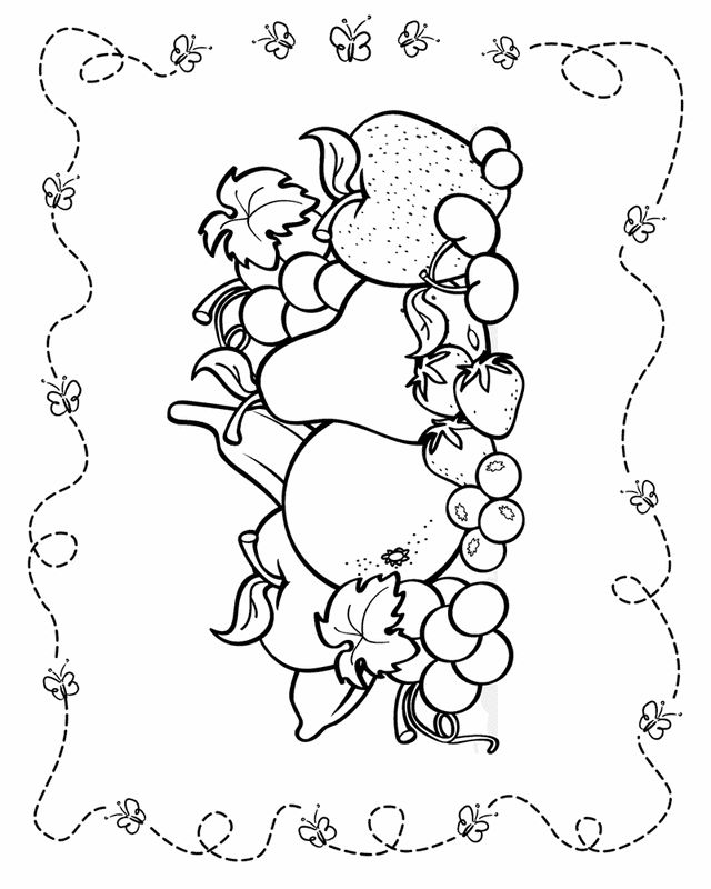 Fall fruit coloring pages ~ 44 best Groente Kleurplaten images on Pinterest ...