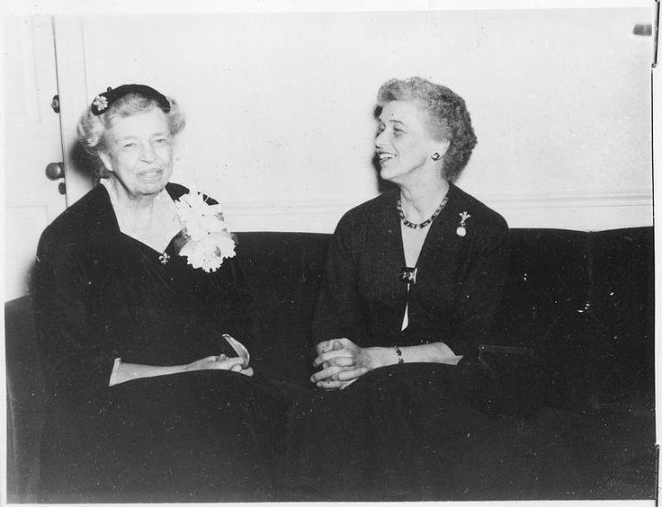 Eleanor Roosevelt and Anna Roosevelt at Syracuse University in Syracuse, New York - NARA - 195582 - Anna Roosevelt Halsted - Wikipedia