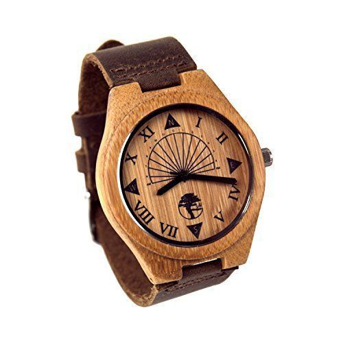 Bamboo Wooden Watches Umisex Gift Modern Leather Bracelet Strap High Quality New #BambooWoodenWatchesMens