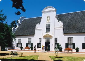 Groot Constantia is a wine estate open to the public. The house is Cape Dutch style architecture and is nestled amongst the prolific vineyards.